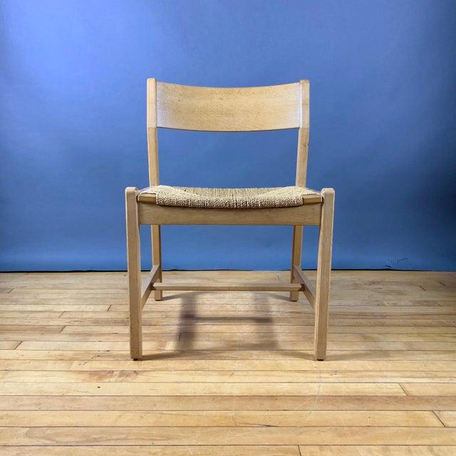 Børge Mogensen Bm2 Oak & Papercord Dining Chairs, Denmark 1960s For Sale In New York - Image 6 of 13
