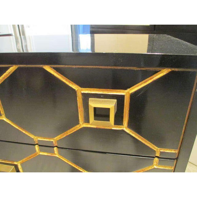 2000s Custom Pair of Dorothy Draper Style Lacquered Commodes For Sale - Image 5 of 7