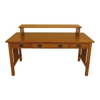 1990s Vintage Stickley Mission Oak Executive Desk For Sale