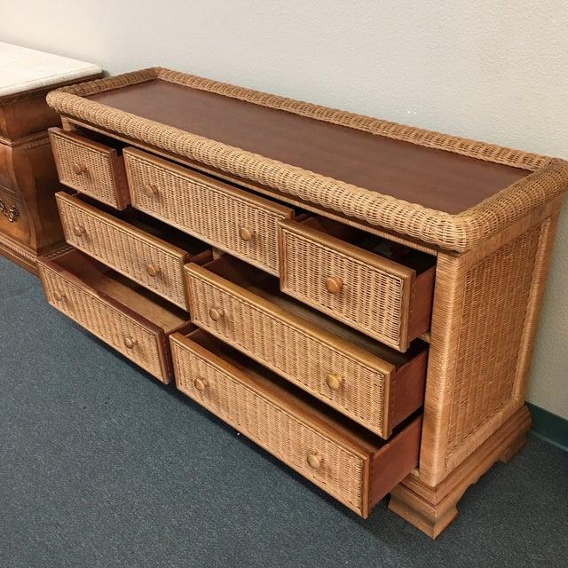 Seven Drawer Wicker Dresser - Image 5 of 6