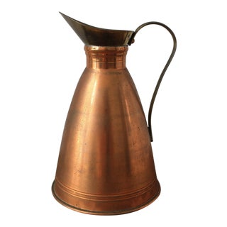 20th Century English Traditional Copper Pitcher