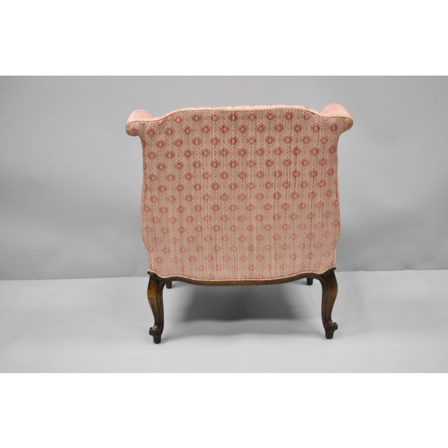 20th Century Louis XV Knapp & Tubbs Kenilworth Boudoir Accent Chair For Sale - Image 10 of 13