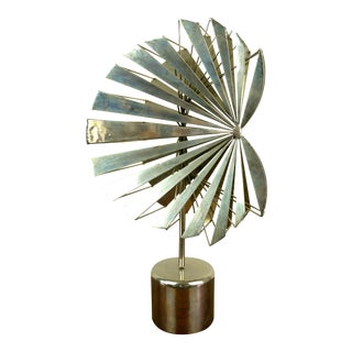 1960s Mid-Century Modern Abstract Metal Sculpture For Sale