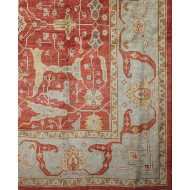 Hand Knotted Fine Oushak Rug - 12' X 12' For Sale - Image 5 of 5