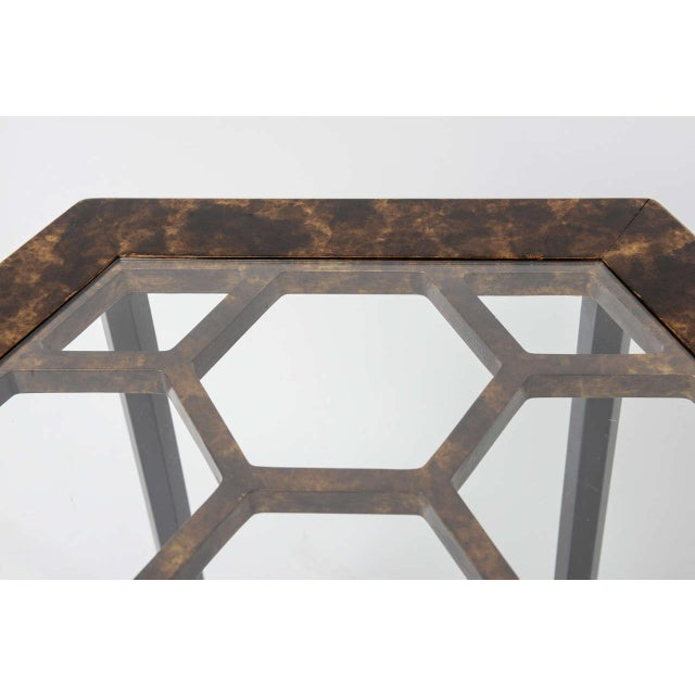 1960s 1960s Asian Widdicomb Pair Hexangonal Faux Tortoise Occasional Tables - a Pair For Sale - Image 5 of 11