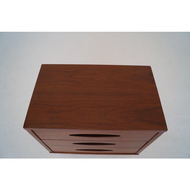 McCoy Furniture Mid-Century 3-Drawer Walnut Nightstand - Image 8 of 10