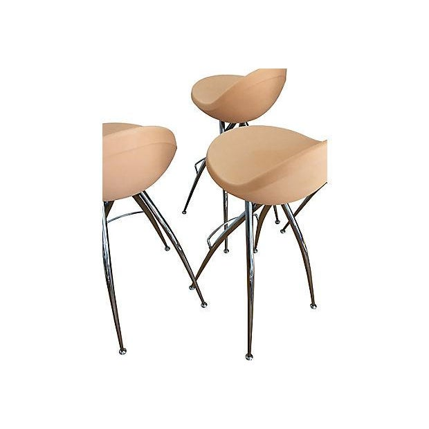 Italian Roberto Foschia Italian Midj Bar Stools - Set of 4 For Sale - Image 3 of 8