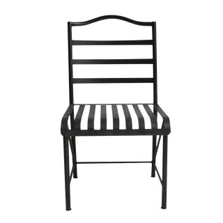Black Iron Bistro Chair For Sale