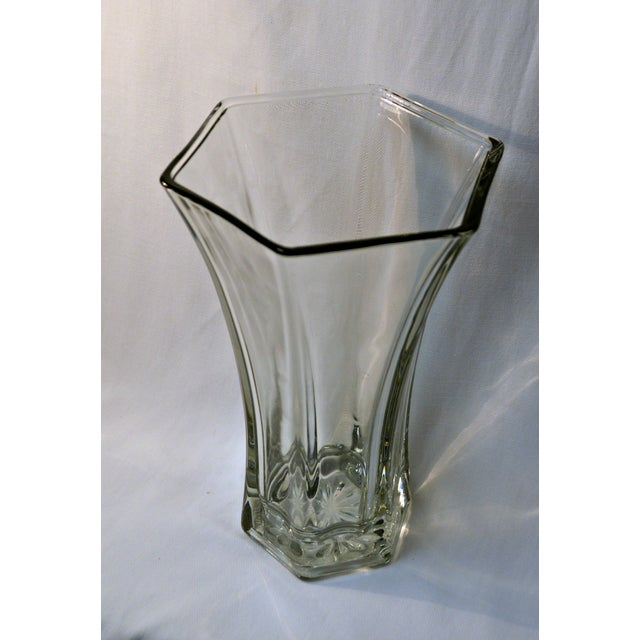 Vintage Heavy Hoosier Glass Vase Chairish