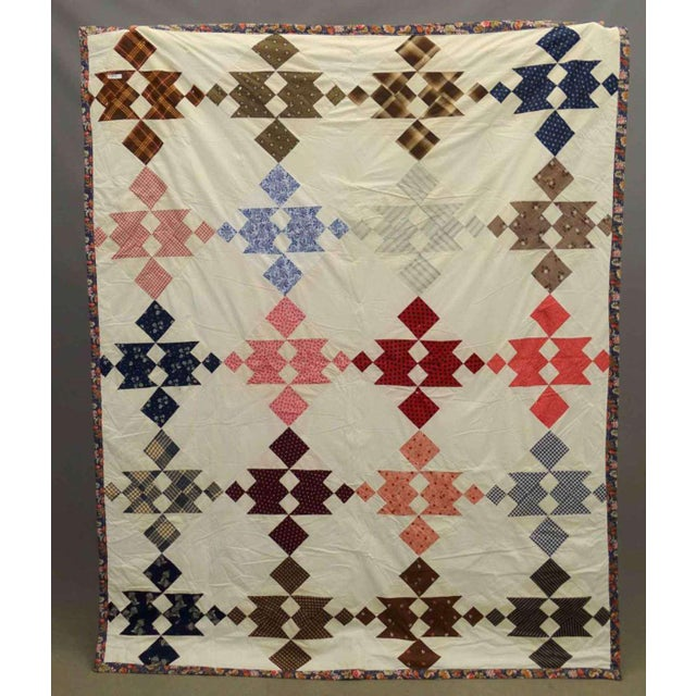 American Vintage Hand Sewn and Stitched Quilt For Sale - Image 3 of 3