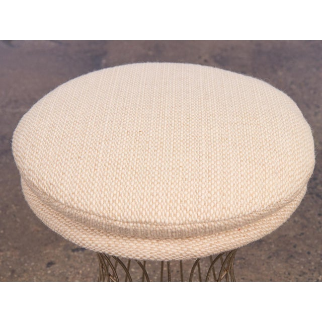 Mid-Century Modern Warren Platner Style Wire Stool For Sale - Image 3 of 7