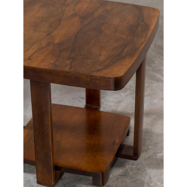 1930s Art Deco Vintage French Walnut Table circa 1930 For Sale - Image 5 of 9