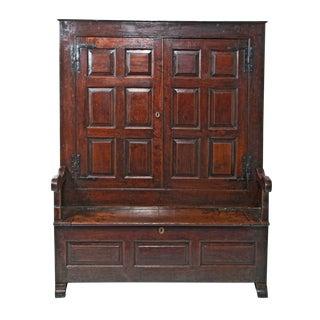 Early 18th Century George II Period Oak Bacon Settle For Sale