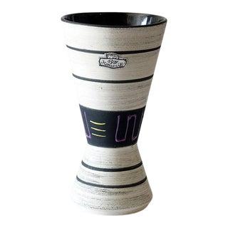 1950s Bay Keramik Germany Striped Ceramic Vase For Sale