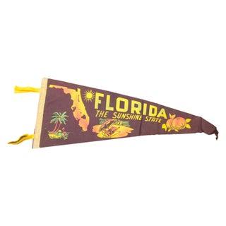 "Vintage Florida ""Sunshine State"" Felt Flag"