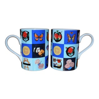 Vintage 1990s Gucci Guccissimo Porcellana Mugs - a Pair For Sale