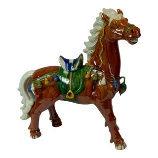 San Cai Inspired Ceramic Horse For Sale