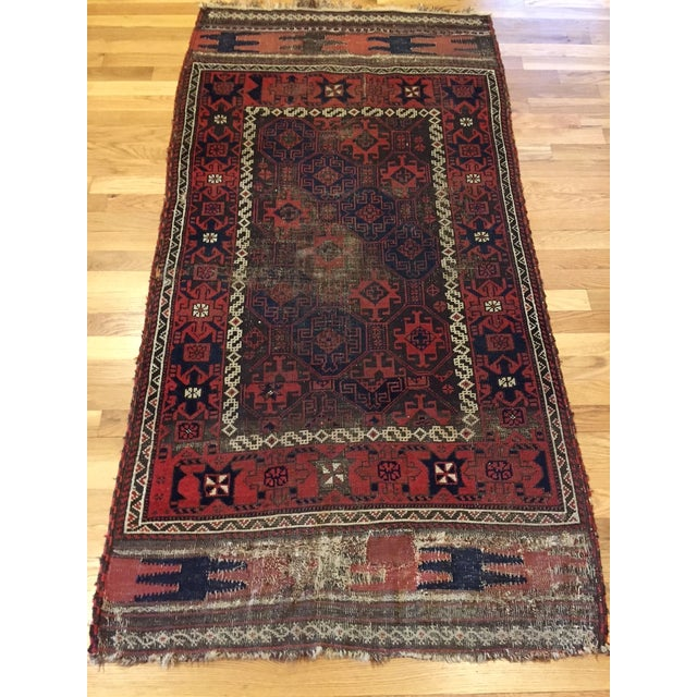 "Vintage Tribal Persian Rug - 3' x 5'10"" - Image 5 of 7"
