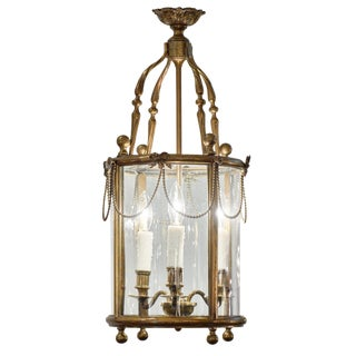 Louis XVI Style Bronze Lantern For Sale