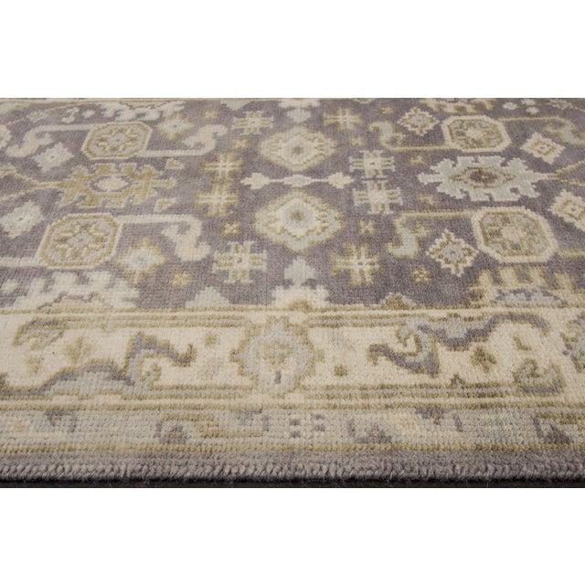 """Apadana - 21st Century Oushak Style Rug, 2'7"""" x 19'9"""" For Sale - Image 4 of 8"""