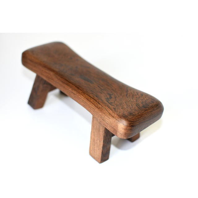 Chinese Rosewood Mini Stools, Hand Rests - a Pair For Sale - Image 11 of 13