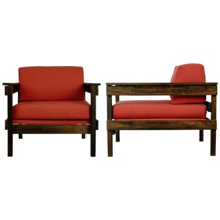 1970s Brazilian Modern Jacaranda Armchairs From Floresta Country Club, Rio - a Pair For Sale