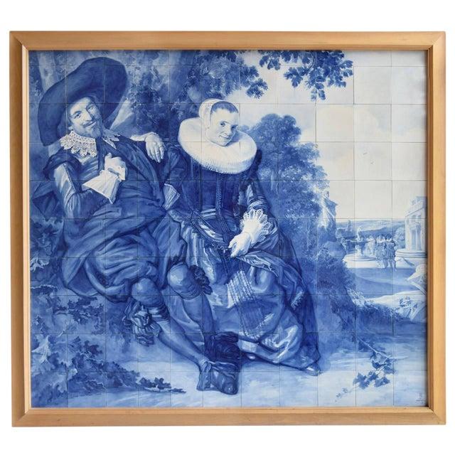 Rare Delft Tile Mosaic - Image 1 of 7
