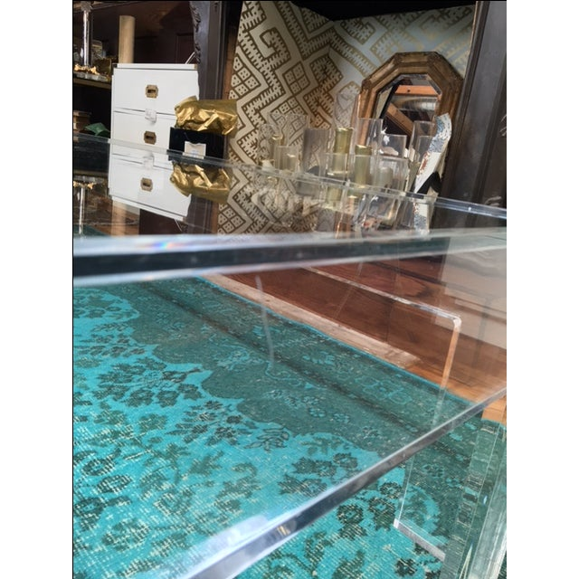 1970s Parson-Style Lucite Coffee Table - Image 3 of 5