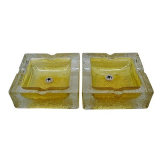 Walther Glass Ashtrays, a Pair For Sale