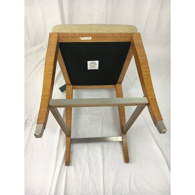 Lemonwood Green Aubusson Bar Stool For Sale In West Palm - Image 6 of 9