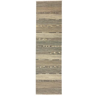 Rug & Relic Organic Modern Natural Wool Runner | 2'6 X 9'11 For Sale