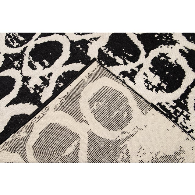 21st Century Modern Moroccan Style Wool Rug For Sale - Image 4 of 13
