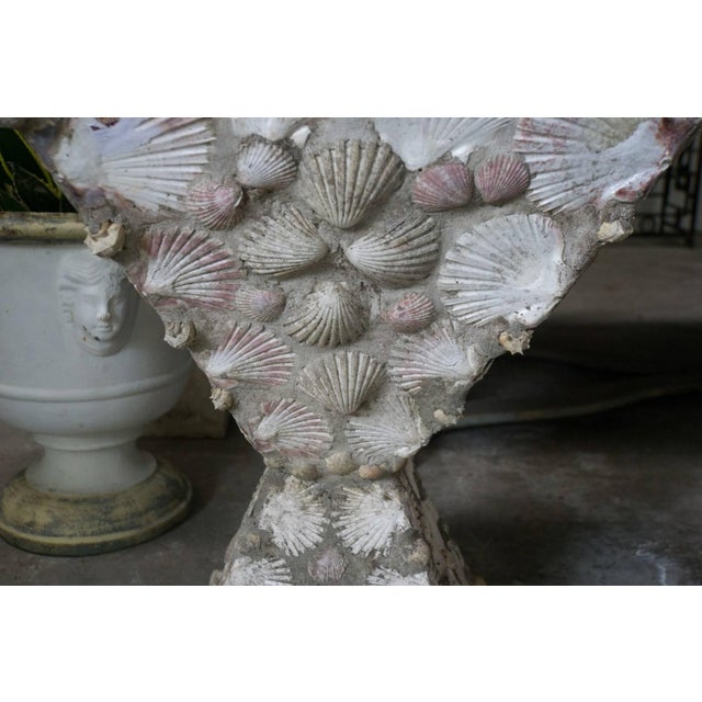 French Mid-20th Century French Cement Planters With Embedded Shells For Sale - Image 3 of 7