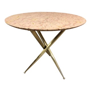 Bronze and Marble Top Side Table For Sale
