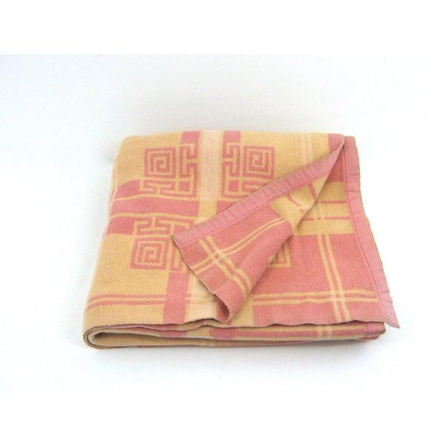 Vintage Pink & Orange Reversible Camp Blanket - Image 2 of 6