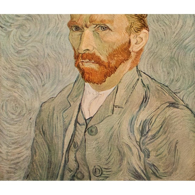 """1950s Vincent Van Gogh """"Self-Portrait"""", Post-Impressionist First Edition Lithograph For Sale - Image 4 of 10"""
