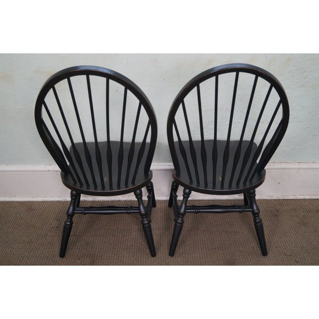 Restoration Hardware Black Painted Windsor Dining Chairs - Set of 4 ...