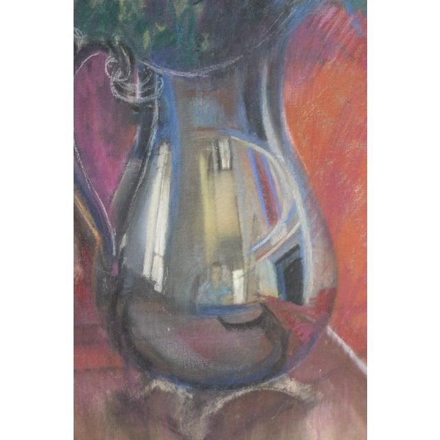 "Vintage ""Roses"" Painting by Artist John Elliot For Sale - Image 4 of 13"