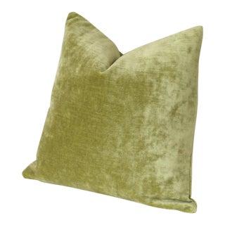 Chartreuse Velvet Euro Sham 24x24 For Sale