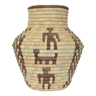 Vintage Handmade Zulu Coiled Basket