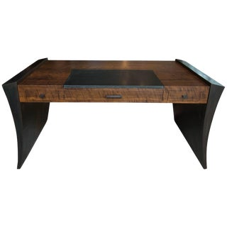 Modern Walnut and Granite Executive Desk by Gregory Clark For Sale