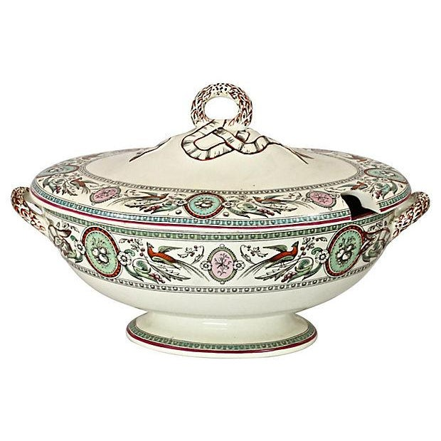 Antique French Chinoiserie Soup Tureen - Image 2 of 9