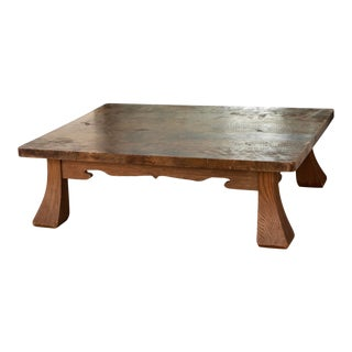 Antique Japanese Low Table, Quarter-Sawn Pine For Sale