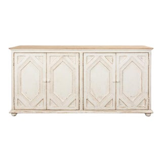 Four Diamond Sideboard in Antique White For Sale