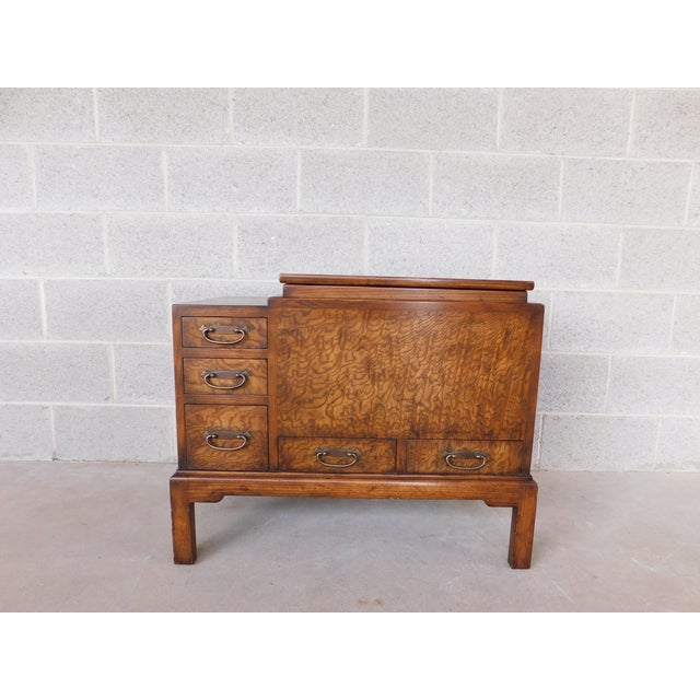 Old Colony Asian Style Silver Chest Server For Sale - Image 10 of 10