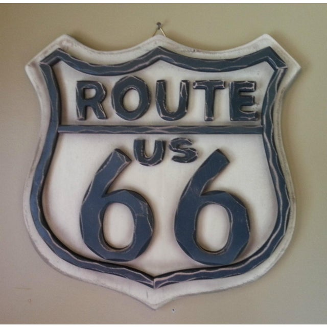 Route 66 Wood Wall Sign - Image 7 of 7