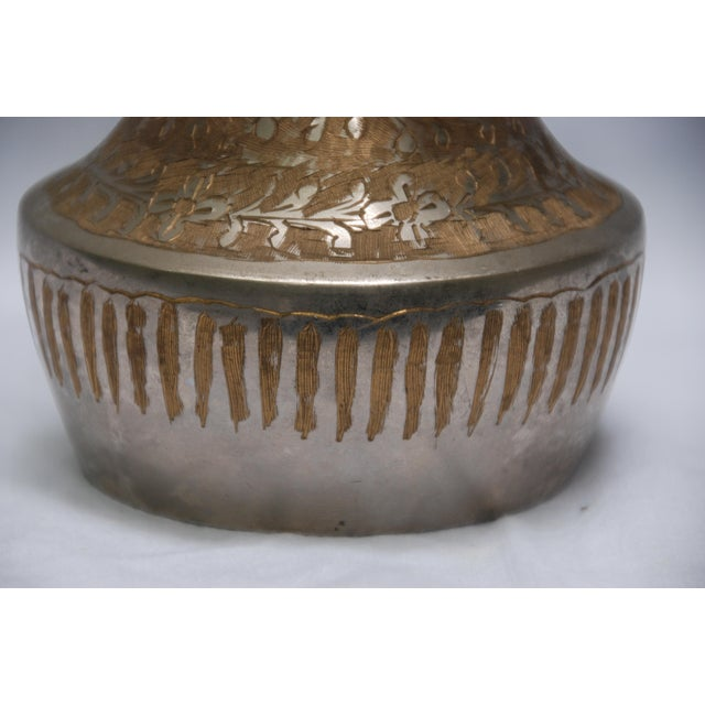 Vintage Silver Metal Floral Vase - Image 5 of 5