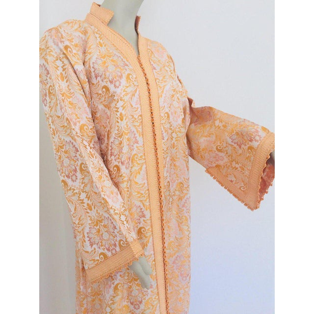 Gold Moroccan Caftan in Gold Brocade For Sale - Image 8 of 13