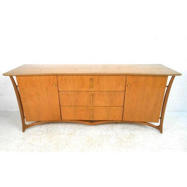 Piet Hein Mid-Century Modern Sculpted 9 Drawer Dresser - Image 2 of 5