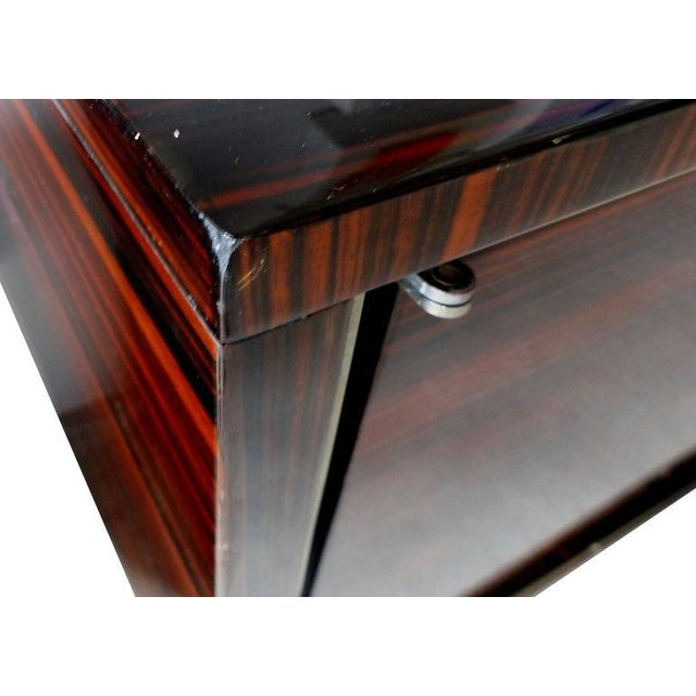 1930s French Art Deco Macassar and Ebony Credenza with Bar Compartment For Sale - Image 9 of 11